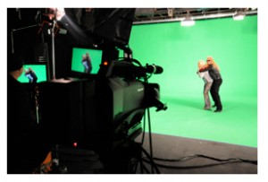 green screen studio shoot