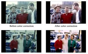 Film Transfer 8mm film color correction